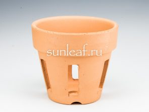 Горшок для неофинетий глина с окошками 3.5