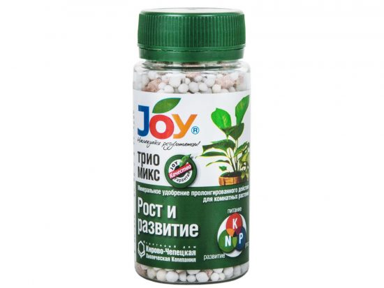 Удобрение минеральное ТРИО МИКС Рост и развитие JOY гранулы, 100 гр JOY